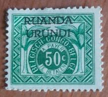 Taxe (Palmier) - Ruanda Urundi - Ruanda-Urundi
