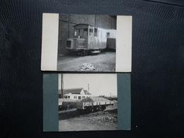 2 PHOTOS,Castres ,Wagon De Ballast ,autorail - Trains