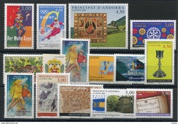 RC 16074 ANDORRE COTE 49,30€ - 1998 ANNÉE COMPLETE SOIT 16 TIMBRES N° 497 / 511 NEUF ** MNH TB - French Andorra