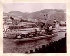 VILLEFRANCHE SUR MER  C.1900 Photo COONEE Navire De Guerre - Luoghi