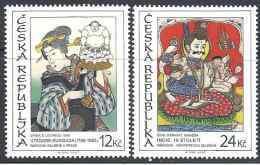 2007 Rép TCHEQUE 459-60** Art Asiatique, Japon, Inde - Repubblica Ceca
