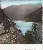 Aosta Valgrisanche Lago Di Beauregard Voici Venir La Nuit Diga Impianto Idroelettrico Fg - Italy