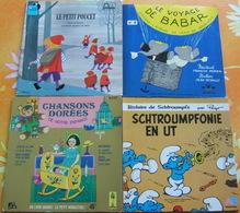 Quatre 45 Tours Pour Enfants - SCHTROUMPFS / PETIT POUCET / BABAR / CHANSONS DOREES DE NOTRE ENFANCE - Bambini