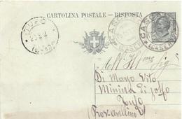 Cascano. 1920. Annullo Guller CASCANO (CASERTA), Su Cartolina Postale - 1900-44 Vittorio Emanuele III