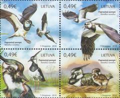 Lietuva Litauen 2018 MNH ** Mi. Nr. 11286-89 Zd Fauna Of Lithuania. Lapwings M - Oiseaux
