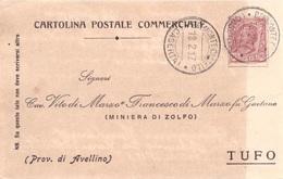 Belmonte Castello. 1917. Annullo Guller BELMONTE CASTELLO (CASERTA), Su Cartolina Postale - 1900-44 Victor Emmanuel III