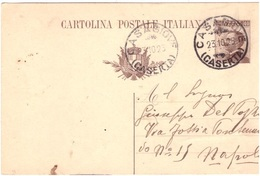 Casagiove. 1925. Annullo Guller CASAGIOVE (CASERTA), Su Cartolina Postale - 1900-44 Vittorio Emanuele III