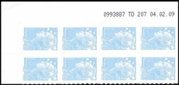 France Coin Daté Autoadhésif N°  288 ** Marianne De Beaujard Du 04.02.09, Le 1,30 Euro Bleu Ciel - Dated Corners