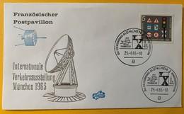 10084 - Internationale Verkehrsausstellung München 25.06.1965 Französischer PostPavillon - Verkehr & Transport