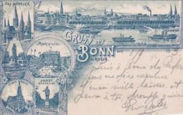 251514Gruss Aus Bonn,  (Poststempel 1893)(Beschnittene Kanten) - Bonn