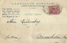 """6710"""" CASA EDITRICE DOTT. FRANCESCO VALLARDI-MILANO-UFFICIO PERIODICI """" -CART.POST- SPED. 1909 - Non Classificati"""