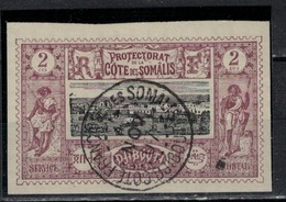COTE DES SOMALIS       N°  YVERT  : 7 ( 3 )     OBLITERE       ( Ob   5/10 ) - Oblitérés