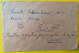 10089 - Lettre Recommandée Focsani 10.03.1943 Pour Croix-Rouge Genève Cachet Censure Voir Scans - Other