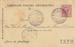 Galluccio. 1919. Annullo Guller GALLUCCIO (CASERTA), Su Cartolina Postale - 1900-44 Vittorio Emanuele III