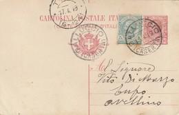 Galluccio. 1919. Annullo Guller GALLUCCIO (CASERTA), Su Cartolina Postale - Storia Postale