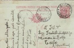 Carinola. 1918. Annullo Guller CARINOLA(CASERTA), Su Cartolina Postale - 1900-44 Vittorio Emanuele III