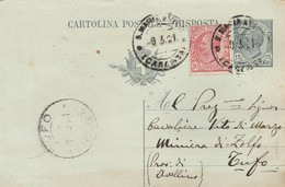 S. Maria A Vico. 1921. Annullo Guller S. MARIA A VICO (CASERTA), Su Cartolina Postale - Storia Postale