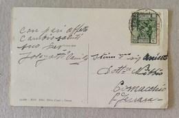Cartolina Illustrata Derna (Cirenaica) Per Comacchio (Ita) - 12/11/1935 - Libia