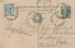 Mondragone. 1918. Annullo Guller MONDRAGONE (CASERTA) + MINTURNO + Tondo Riquadrato TUFO, Su Cartolina Postale - Storia Postale