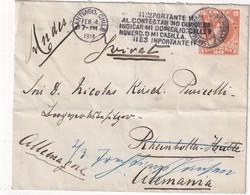 CHILI 1914      ENTIER POSTAL/GANZSACHE/POSTAL STATIONERY  LETTRE DE SANTIAGO - Chili