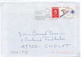 France N° 2710 Y. Et T. Deux Sèvres Niort RP Flamme Illustrée Du 25/03/1992 Sur Lettre - Marcophilie (Lettres)