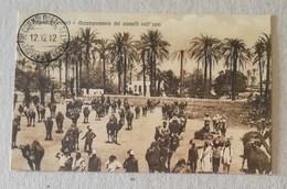 """Cartolina Illustrata """"Tripoli - Accampamento Dei Camelli Nell'oasi"""" - Non Viaggiata, Timbro Postale 12/12/1912 - Tripolitaine"""