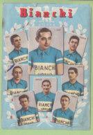 Fausto COPPI, Serse Coppi, Keteleer, Carrea, Conte, Pasquini, Crippa, Milano : Bianchi Ursus 1950 . 2 Scans. - Cycling