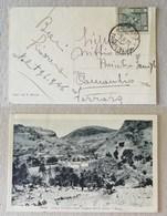 """Cartolina Illustrata """"Nalut, Campo Famiglie Degli Indigeni Del 3° Libico I Rossi"""" Per Comacchio - 09/06/1936 - Libia"""