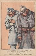 """6714"""" SOTTOSCRIVETE ! SI ARRENDERANNO """" -CART.POSTALE NON SPED. - Guerra 1914-18"""