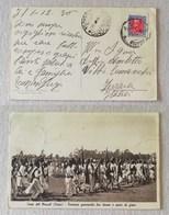 """Cartolina Illustrata Eritrea """"Festa Del Mascàl"""" Per Comacchio - 01/12/1936 - Eritrea"""