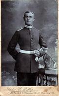 Tirage Photo Albuminé Cartonné CDV Portrait De Soldat Allemand De Berlin Vers 1880 - Atelier E. Postlep - Anciennes (Av. 1900)