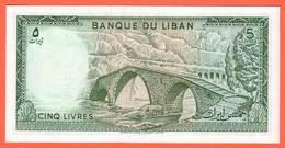 LIBAN - 5 Livres De 1986 - Pick 62d - Liban