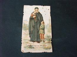 SANTINO HOLY PICTURE IMAGE SAINTE SAINT VINCENT DE PAUL PRIEZ POUR NOUS IMPORTE' D 'ITALIE R 51 - Santini