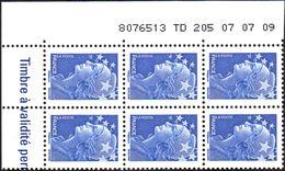 France Coin Daté N° 4231 ** Marianne De Beaujard Gommé Du TVP Bleu Sur TD 205 Du 07.07.09 - Dated Corners