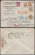 BELGIQUE COB 203 X4+246 SUR LETTRE REC ETTERBEEK 18/10/1928 PARTI ET RETOUR (EB) DC-7343 - 1922-1927 Houyoux