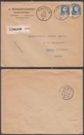 BELGIQUE COB 212X2 SUR LETTRE REC VIELSALM 11/09/1925 VERS LA SUISSE (EB) DC-7347 - 1921-1925 Montenez Pequeño