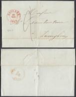 BELGIQUE LETTRE DATE DE ROULERS 16/11/1843 VERS ZWEVEGHEM  (EB) DC-7379 - 1794-1814 (Periodo Frances)