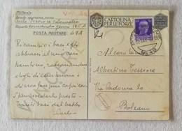 """Cartolina Postale Per Le Forze Armate, Carte Geografiche """"Corsica"""" P.M.49 Per Bolzano 11/03/1941 - Posta Militare (PM)"""