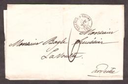 LAC - 28 Sept. 1859 - Valence Pour La Voulte - Port Dû Taxe 6 Décimes - 1849-1876: Periodo Clásico