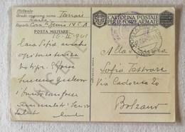 """Cartolina Postale Per Le Forze Armate, Carte Geografiche """"Corsica"""" P.M.49 Per Bolzano 17/02/1941 - Correo Militar (PM)"""
