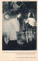 Louis XIV Se Consacrant Au Sacré Coeur Avec Le Père De La Chaise CPA  Voir Les Scannes - Paintings