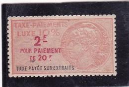 T.F Taxe De Luxe Taxe Payée Sur Les Extraits N°46 - Revenue Stamps