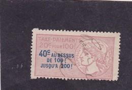T.F. Taxes Sur Les Paiements N°2 A - Revenue Stamps