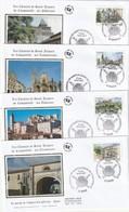 Lot De 4 Premiers Jours Saint Jacques De Compostelle  2014 - FDC