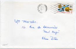 France N° 2755 Y. Et T. Vienne Poitiers Couronneries Flamme Ondulée Du 10/08/1992 Sur Lettre - 1961-....