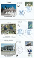 Lot De 3 Premiers Jours Service Et Unesco 2014 - FDC