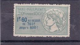 T.F.Taxes Sur Les Paiements N°8A Neuf - Revenue Stamps