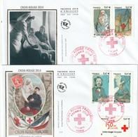 Lot De 2 Premiers Jours  Croix Rouge  2014 - 2010-....