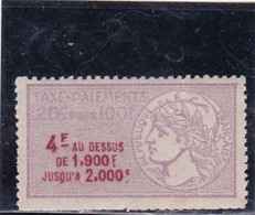 T.F.Taxes Sur Les Paiements N°11A Neuf - Revenue Stamps