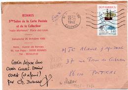 France N° 2756 Y. Et T. Essone Montgeron Flamme Ondulée Du 17/11/1992 Sur Lettre - Marcophilie (Lettres)